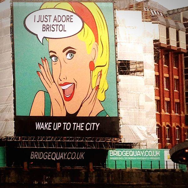 Bristol England Advertising Signs Streetphotography Walking Around Taking Photos