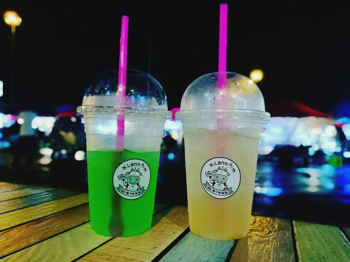 Drink Refreshment Drinking Straw Food And Drink Night Drinking Glass Outdoors Cold Temperature Freshness No People Close-up Food City Sky