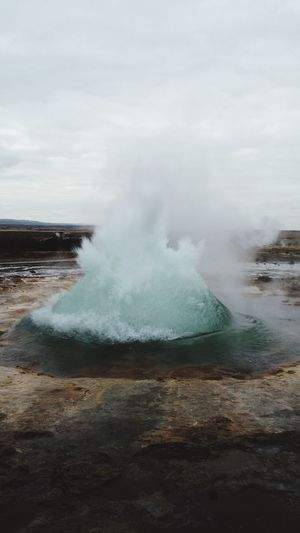 Miles Away Iceland, Nature Geyser Geology Power In Nature Beauty In Nature Hot Spring Physical Geography Erupting Sky Tourism Non-urban Scene Travel Destinations Outdoors Heat - Temperature Day Scenics No People Landscape Water
