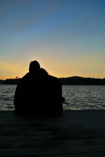 Lake Love Sunset Water