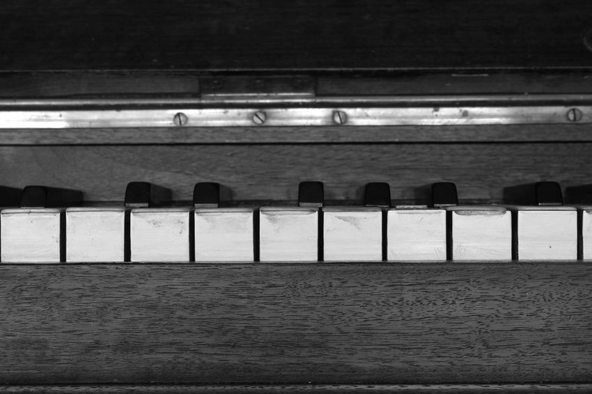 Old piano 1905 details 10 Lines Music Piano Arts Culture And Entertainment Black And White Blackandwhite Classical Music Close-up Day Detail Horizontal Lines Indoors  Monochrome Music Musical Instrument No People Old Piano Piano Piano Key Vintage