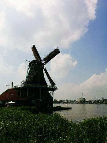 Windmill Netherlands Dyke  Zaandam Zaandijk Showcase July