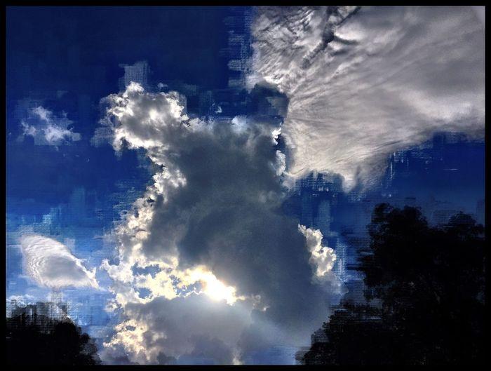 Peeking Through Clouds And Sky Cloudscape Digitalplayground Digital Art Mattroe Mattroeartist Summer2016 August Showcase