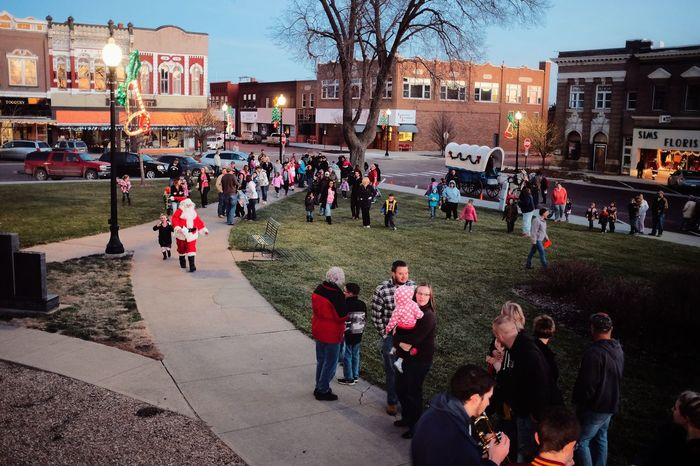 Fairbury, Nebraska December 2015 A Day In The Life Celebration Christmas Around The World Christmastime Crowd Large Group Of People Lifestyles Mixed Age Range Ndb Outdoors Real People Santa Santa Claus Small Town Stories Small Town USA Street