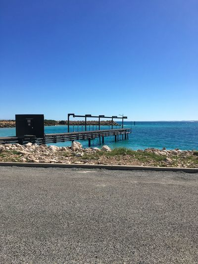 Geraldton Architecture Beach Beauty In Nature Blue Built Structure Clear Sky Copy Space Day Horizon Horizon Over Water Land Nature No People Outdoors Scenics - Nature Sea Sky Tranquil Scene Tranquility Water