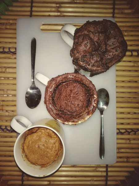 Food And Drink Food High Angle View Ready-to-eat Sweet Food Mug Cake Cakes Homemade Baking Bakery Chocolate Cakes Coffee Cake  Nutella Cake Foodporn EyeEm Diversity The Secret Spaces Visual Feast
