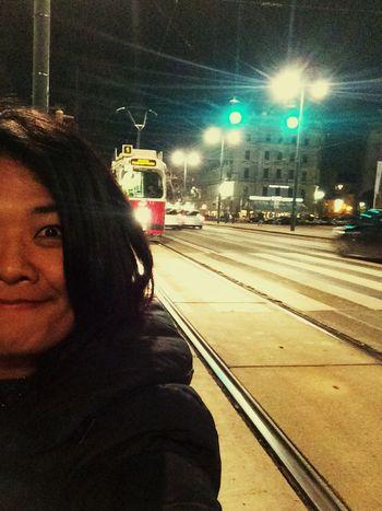 Dangerous Selfies Selfie Tram Vienna Austria Road Alone Nuple Chunsumonpics