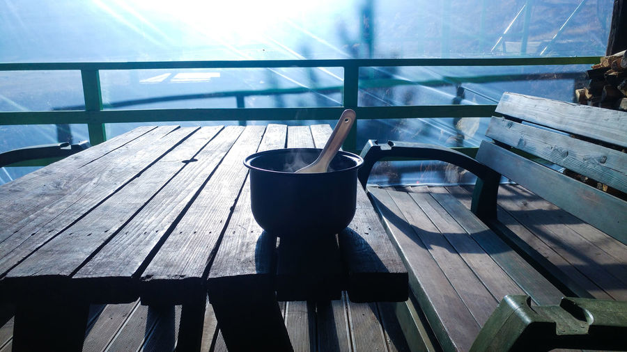 Sunlight No People Table Wood - Material Day Indoors  Shadow Still Life Kitchen Utensil Household Equipment Seat