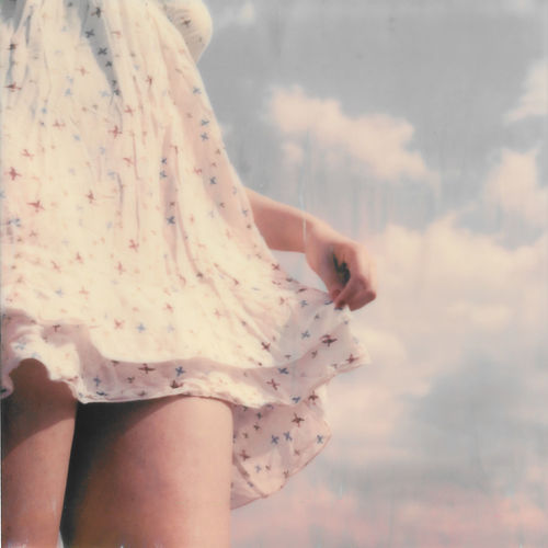 Analogue Photography Adult Body Part Clothing Cloud - Sky Day Film Photography Finger Focus On Foreground Hand Holding Human Body Part Human Hand Leisure Activity Lifestyles Midsection Nature One Person Outdoors Polaroid Real People Sky Women