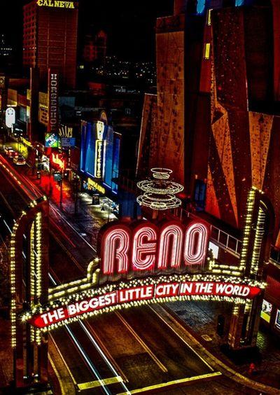 Reno Biggest Little City Reno Arch Gamble City Streetphotography Color Fun Bright Lights Travel Tourist