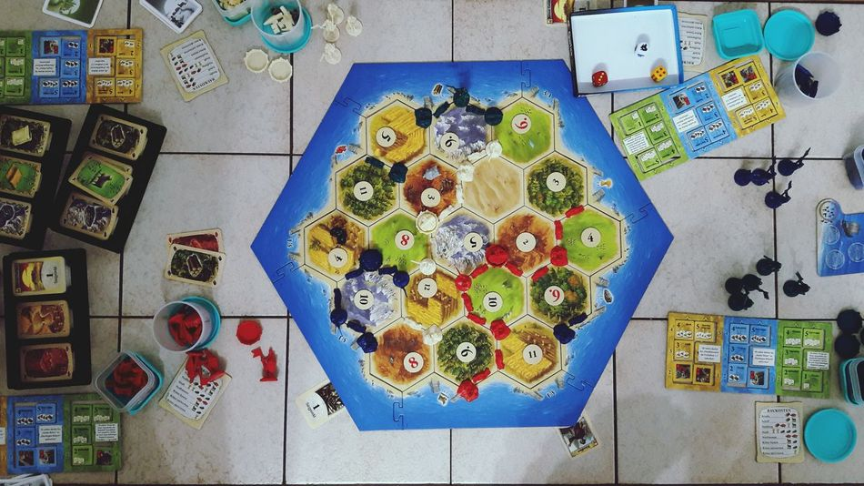 Hanging Multi Colored Large Group Of Objects No People Indoors  Day Close-up Table Board Game Playing Games Playing Catan