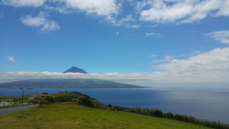 Pico Island Clouds In The Mountian View From Below Faial Island Mountain View Azores Islands Relaxing