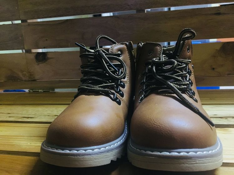 Kids Boots Brown Boots Kids Boots Indoors  Pair Shoe Human Leg Low Section Real People Hardwood Floor Lifestyles Leisure Activity