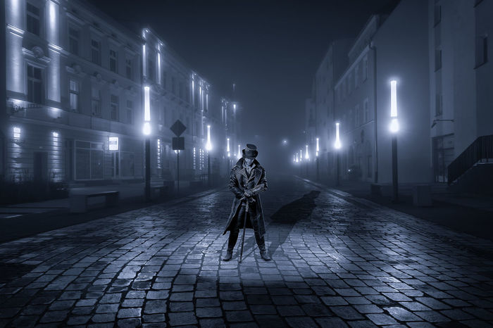 Krzysztof Tollas Character Evening Architecture City Fog Illuminated Light Nikon D3100 Outdoors Pila Street Tenement Houses Winter