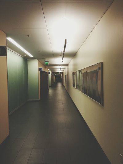 Only at 12:30 am do you find an empty hallway at UCSF Medical Center. Quietbeforethestorm Children's Hospital