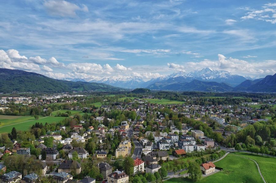 Austria Untersberg Mountain Aerial View