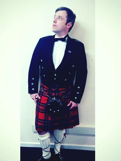 Beautiful picture of my other half Scottish Kilt Stewarttartan Poser Men In Kilts
