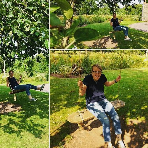 Medieval swing. Treeswing History Brockhamtonhouse