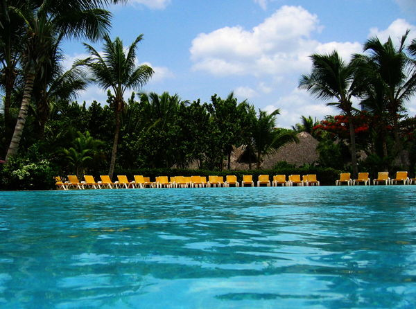 2007 Dominican Republic Dominicus Beach Day Gran Dominicus Village No People Outdoors Palm Tree Sky Swimming Pool Tree Water Yellow