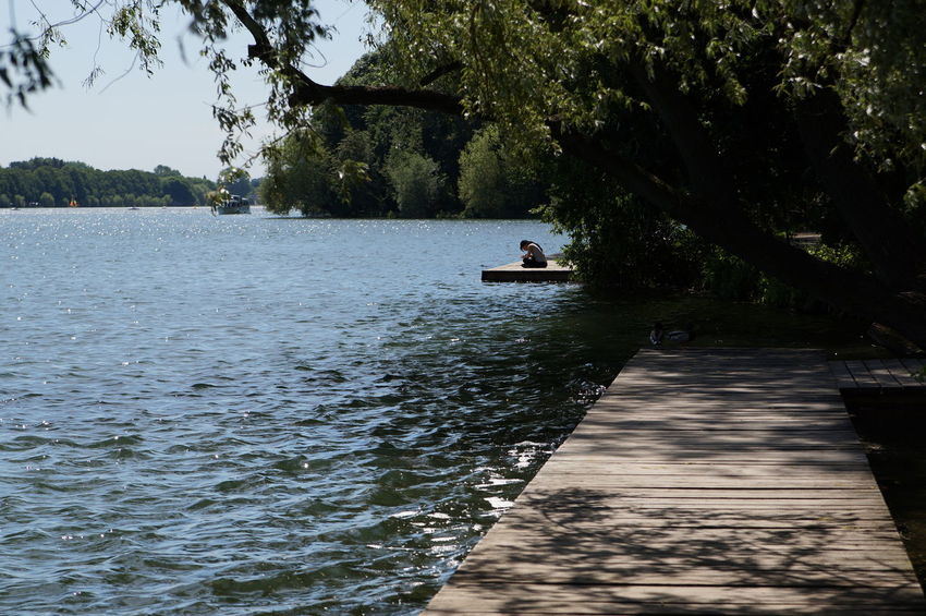 Beauty In Nature Boardwalk Day Hannover Idyllic Incidental People Lake Lakeshore Leisure Activity Maschsee Nature Outdoors Shady Tranquil Scene Tranquility Tree Water