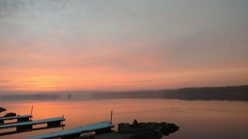 Sunrise No People Mississippiriver Scenics Relaxing Taking Photos Rural Living Beautiful Color Tranquil Scene Majestic Sky