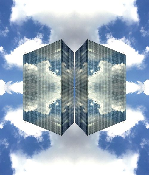 Lost In Space... Miror Pic IPhoneography Reflection Architecture
