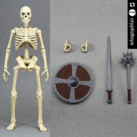 """I wouldn't hate it if anyone wants to order a ton of these for me lol Repost @cryptidtoys with @repostapp ・・・ 6"""" Articulated Bone Skeleton. Part of the Army Alphas 6"""" Figure Kickstarter that's running now! Link in thier bio. Share to spread the word! Instatoy Toystagram Toyworld Toys4life Toys Actionfigure Actionfigures Actionfigurephotography ACBA Articulatedcomicbookart Ata_dreadnoughts Toyunion Toyaddict Toyartistry Toyleague Marvellegends Skeleton Toycommunity Toysaremydrug Toycrewbuddies Toyrevolution Toyphotography Fantasy Armyalphas kickstarter skeletonwarriors skyrim horror"""