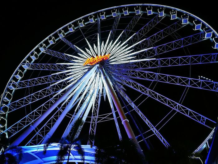 In the circle of life it's wheel of fortune Asiatique Asiatique The Riverfront Illuminated Ferris Wheel Amusement Park Ride Arts Culture And Entertainment Amusement Park Blue Nightlife Clear Sky Sky