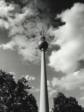 24 hours Citytrip Berlin last year.. Taking Photos Fernsehturm Berlin  Monochrome Bnw Skyporn Eyem Best Shots - Black + White Cityscape Architecture