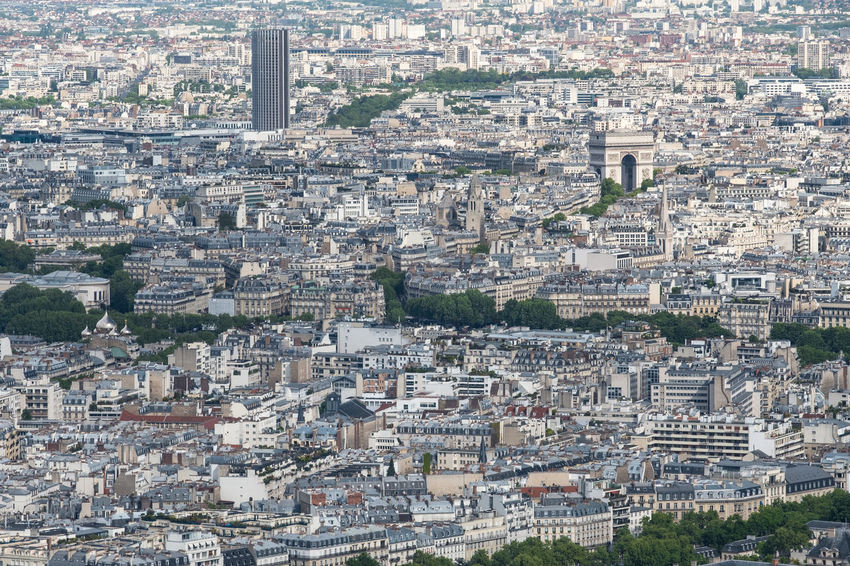 Aerial View Arc De Triomphe Architecture Building Exterior Built Structure City Cityscape Crowded Day Enjoying The View Full Frame High Above High Angle View Houses Outdoors Residential Building Street Tourism Travel Travel Destinations Tree Vacations