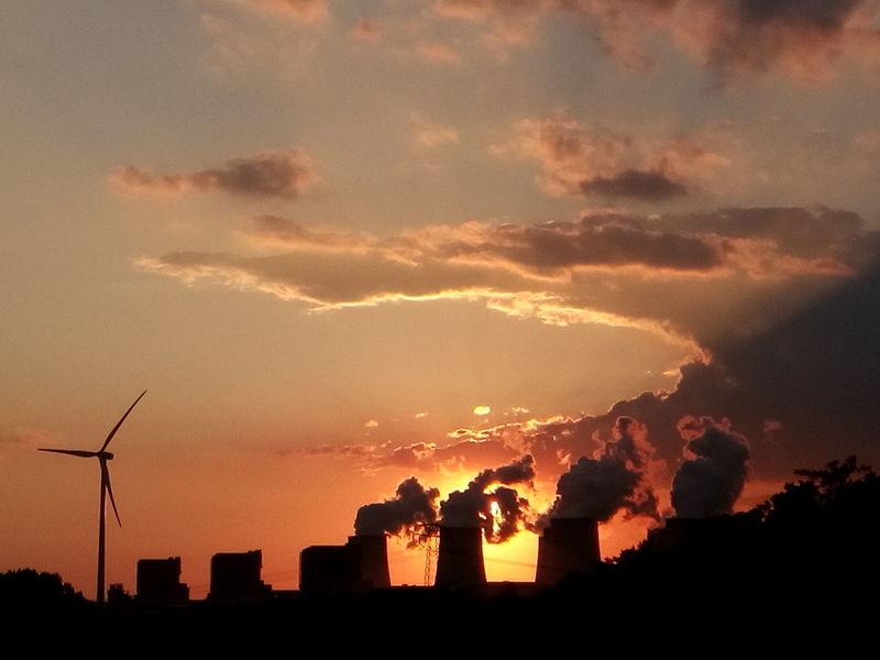 Lausitz Dusk Sunset Sonnenuntergang Jänschwalde Lignite Power Plant Braunkohle Power Plant Kohlekraftwerk Kraftwerk