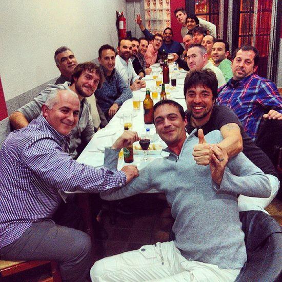 Cena Futbol Mano Risas Equipos Partido Benefico Amigos Castalla Ibi Onil 2014 LOL Nice Cute