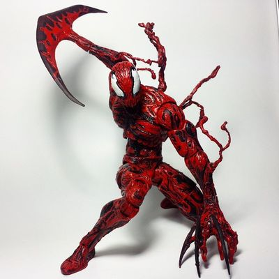 Carnage Cletuskassidy Symbiote Spiderman Marvel Marvellegends Marvelcomics Marvelnation MarvelFan Toyfan Actionfigure Toys Toyphotography Toypizza Toysarehellasick Toycollector Toycommunity Toycollection Diamondselect Marvelselect