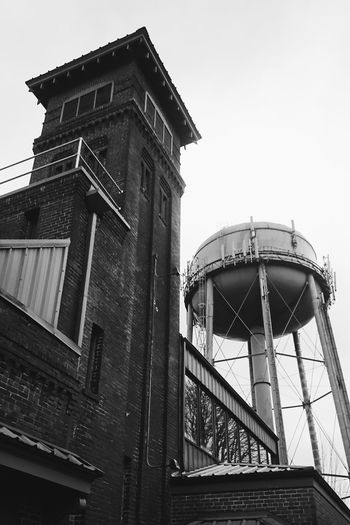 Historical Building Water Tower Window Reflections Black And White Monochrome High Contrast Urban Geometry Urban Perspectives Urban Brick Architecture Brick Building North Portland My Neighborhood Portland Firehouse Shapes And Forms
