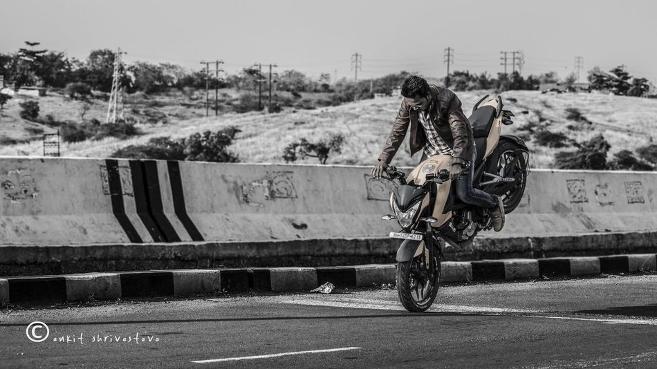 You only live once but if you do it right once is enough Do But Leisure Activity Outdoors Men Bike Stunt