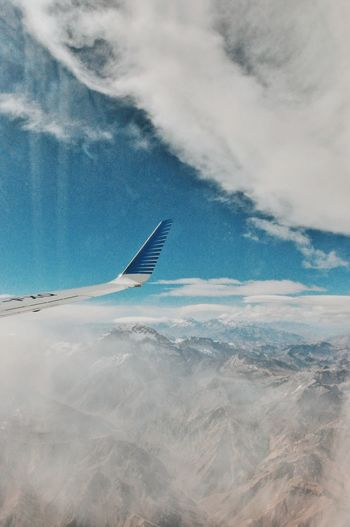 Air Sky Flying Airplane Cloud - Sky Transportation Cloud Aerial View No People Scenics Aircraft Wing Airplane Wing Nature Tranquil Scene Journey Beauty In Nature Tranquility Landscape Outdoors Air Vehicle