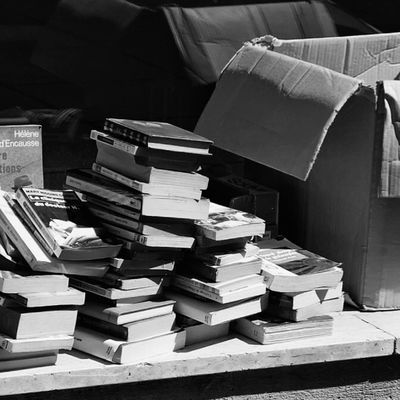 Monochrome Blackandwhite Stack Book Large Group Of Objects Abundance Indoors  No People Day