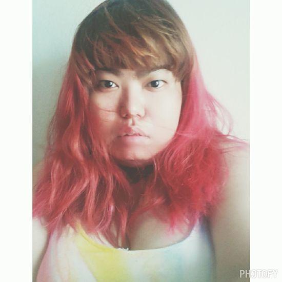 Salfie Portrait Pink Hair