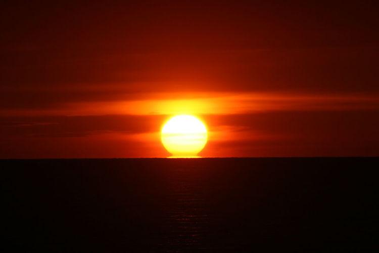 Sunset on the beach. Nofilter Sun Sunset