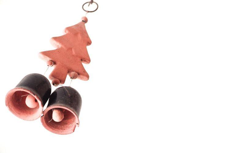 Christmas theme Christmas Decoration christmas tree Christmas Hanging Bell Decoration Chain Festival Holiday Holiday Season Festival Season EyeEm Selects White Background Close-up