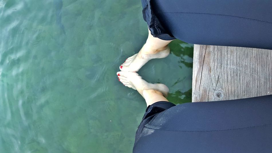 Close-up Day High Angle View Human Leg Kranjska Gora Lake Jasna Lifestyles Nature One Person One Woman Only Outdoors People Real People Slovenia Water