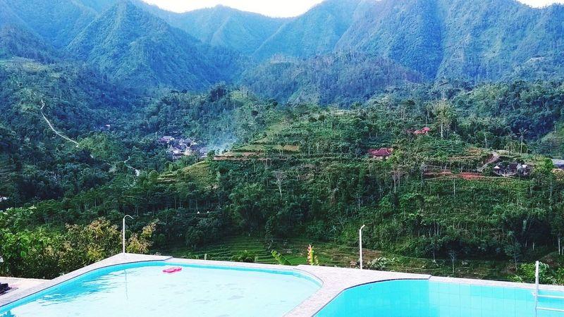Soko langit 😁 Soko Langit Conto Wonogiri Jawa Tengah INDONESIA Water Tree Mountain Swimming Pool