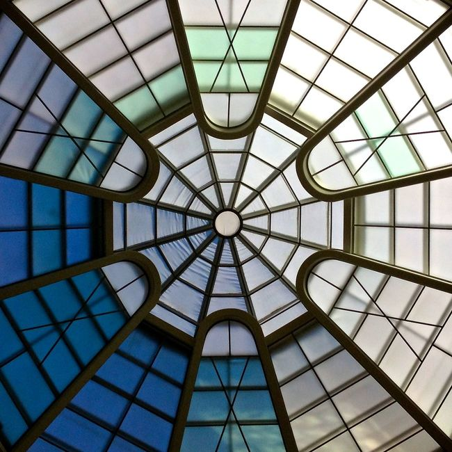 206 / 366 Architectural Feature Architecture Built Structure Ceiling Design Directly Below Full Frame Geometric Shape Glass - Material Gugenhain Museum Gugenheim Low Angle View Modern Pattern Repetition Shape Skylight Franklloydwright Lloydwright Fine Art Photography