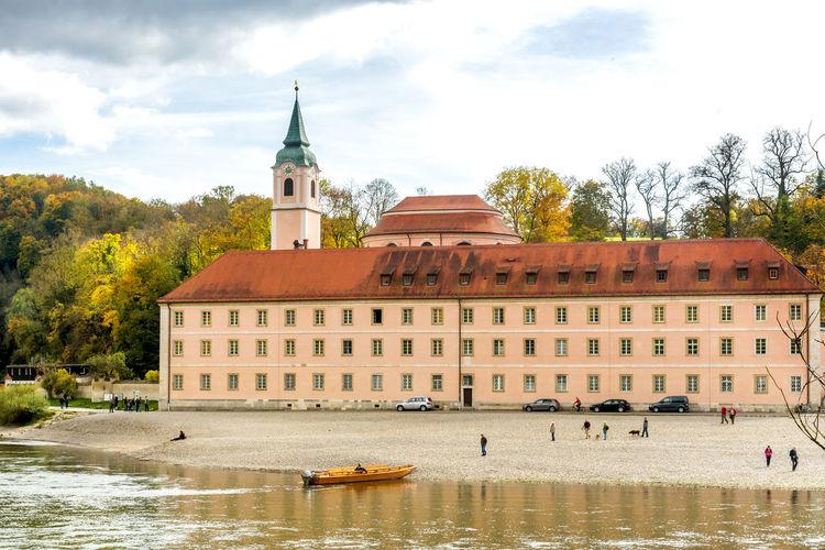 Weltenburg abbey by danube river