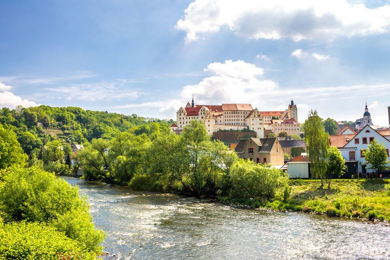 Colditz Castle East German Nature Architecture Beauty In Nature Cloud - Sky Colditz Day Germany Landscape Nature No People Outdoors Sachsen Saxony Sky Tree Village Water