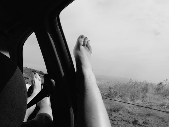 My family and I went on a road trip around Madeira Island. It was so hot and summery EyeEm Selects Roadtrip Photography Summer Vibes Nature Car Human Body Part Personal Perspective Outdoors Day