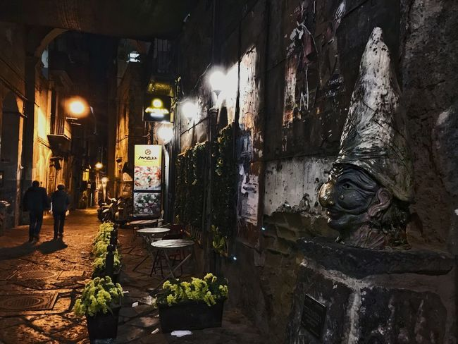 Architecture Built Structure Building Exterior No People Night Illuminated Indoors  Water Napoli Napoli Italy Naples Pulcinella Folklore Tradition Traditional Traditional Culture Spaccanapoli