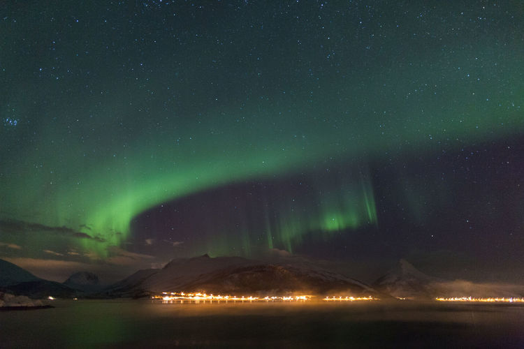Astronomy Atmosphere Atmospheric Mood Aurora Aurora Borealis Cold Dark Fjord Glowing Illuminated Light Long Exposure Mountains Night Northern Lights Northern Norway Norway Outdoors Polar Lights Power In Nature Landscapes With WhiteWall The Great Outdoors - 2016 EyeEm Awards Sky Star Star Field Landscapes With Whitewall Winners