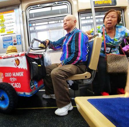 Paleta Good Humor CTA Passenger Train Train Train Interior Commuter Train Public Transportation Subway Train Subway