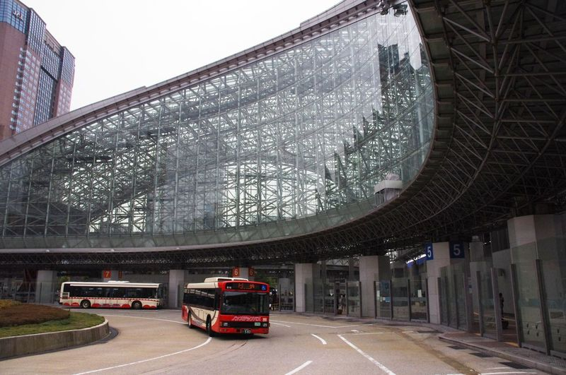 Bus Ride Bus Station Funky Town  Japan Kanazawa Modern Architecture Ride Travel Photography